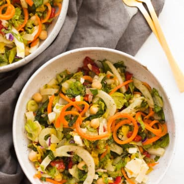Winter Italian Chopped Salad with Fennel