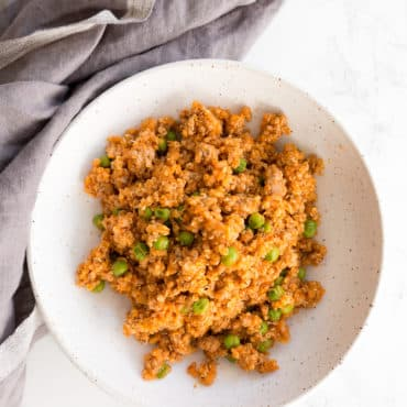Turkey and Quinoa Marinara Skillet