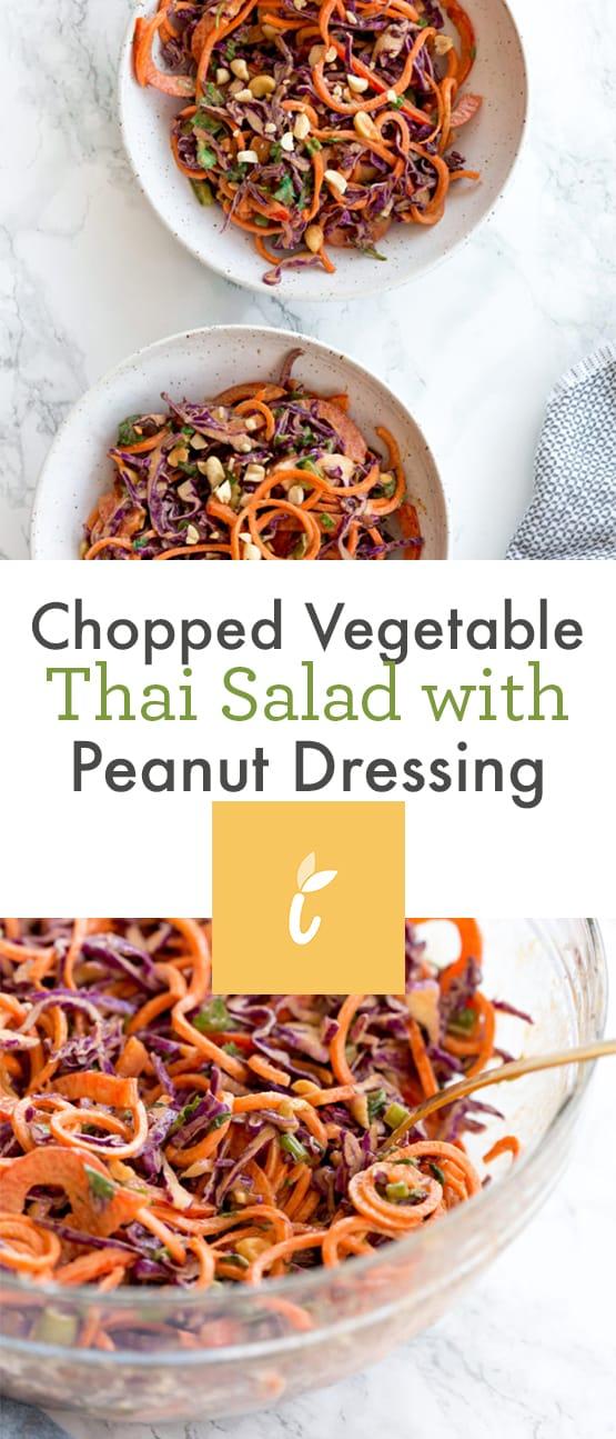 Chopped Vegetable Thai Salad with Peanut Dressing