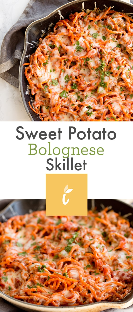 Sweet Potato Bolognese Skillet