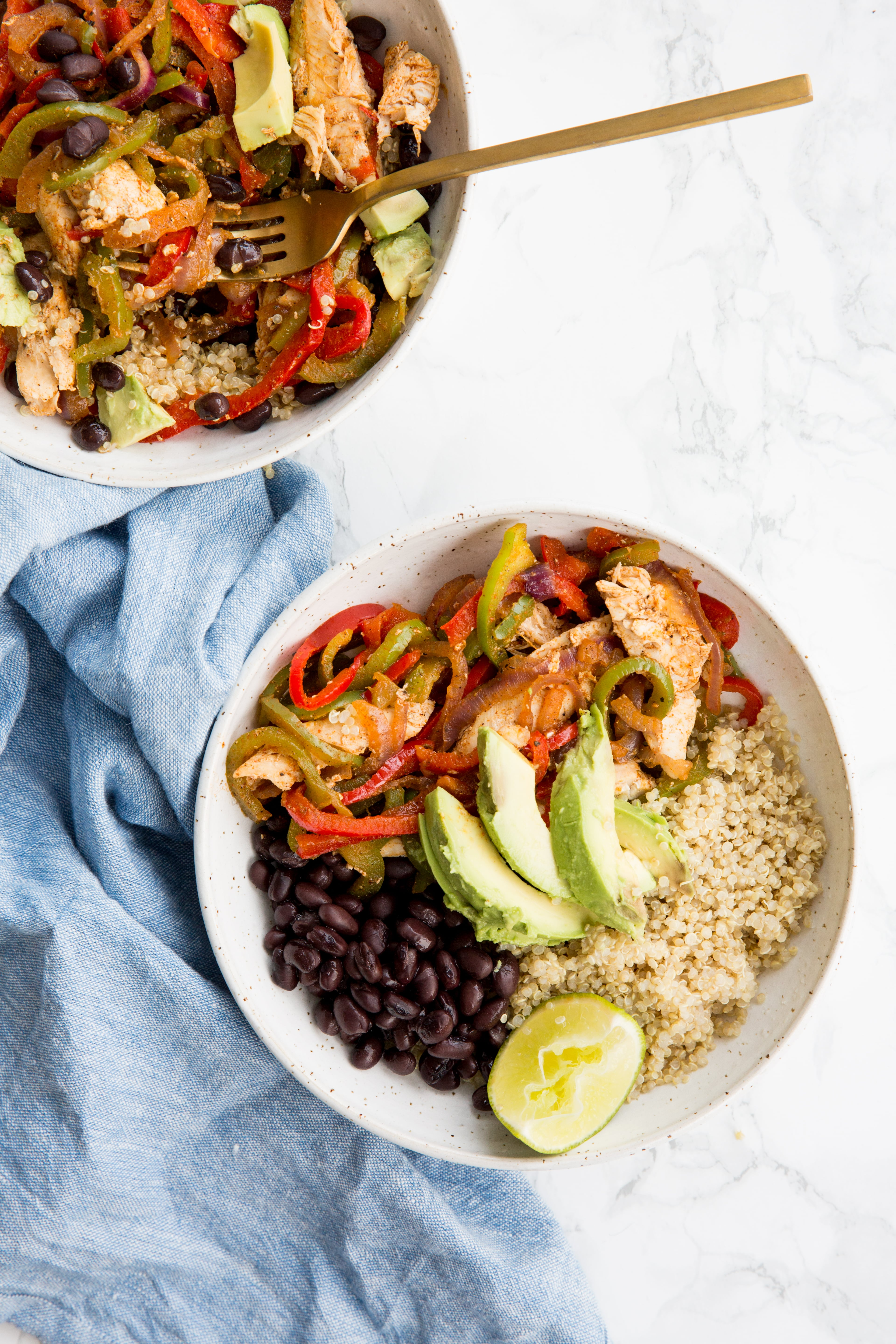 Chicken Fajitas with Spiralized Vegetables