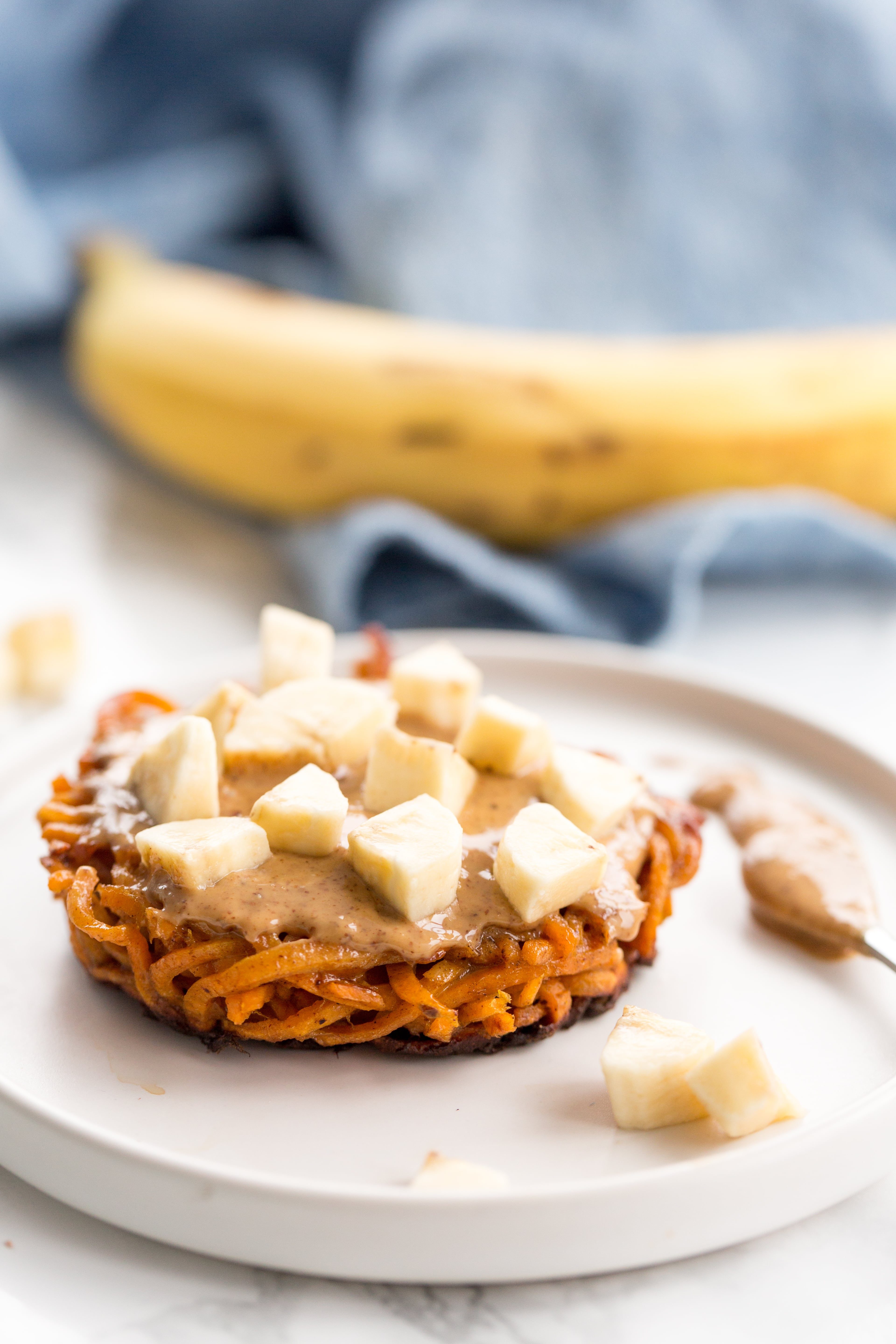 Cinnamon Sweet Potato Bun with Almond Butter
