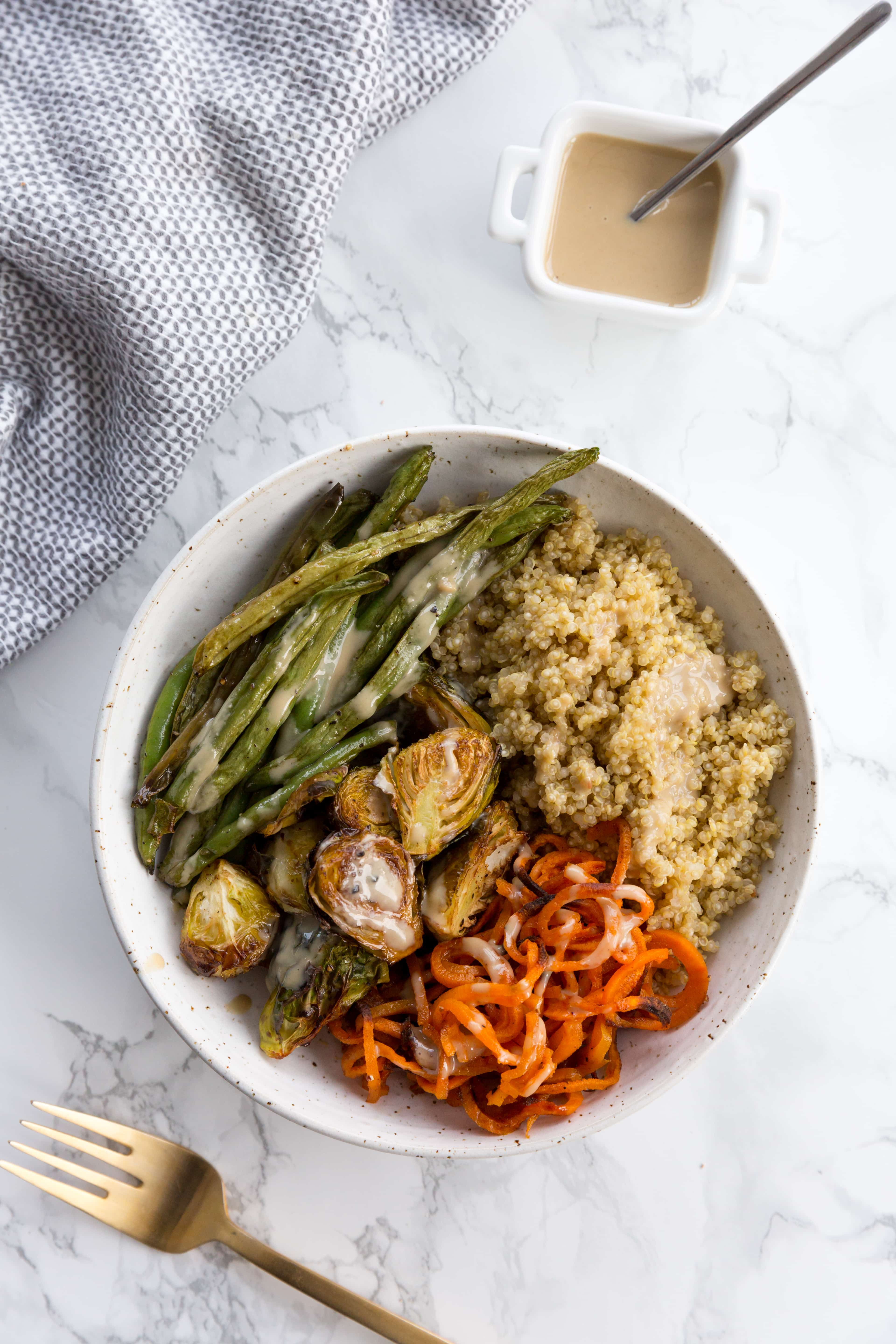 Vegetarian Roasted and Spiralized Veggie Bowls