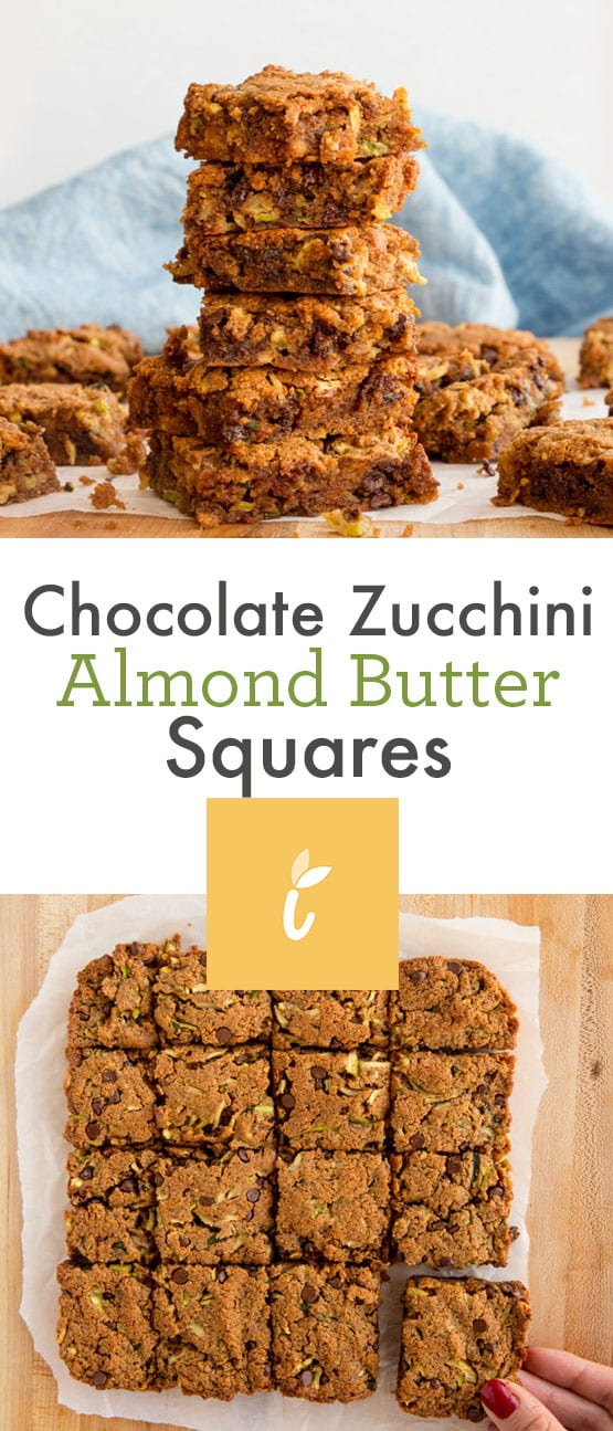 Chocolate Zucchini Almond Butter Squares