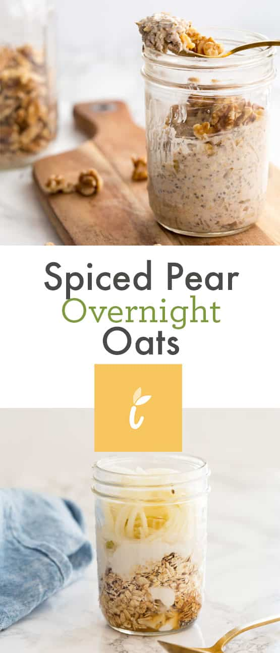 Spiced Pear Overnight Oats