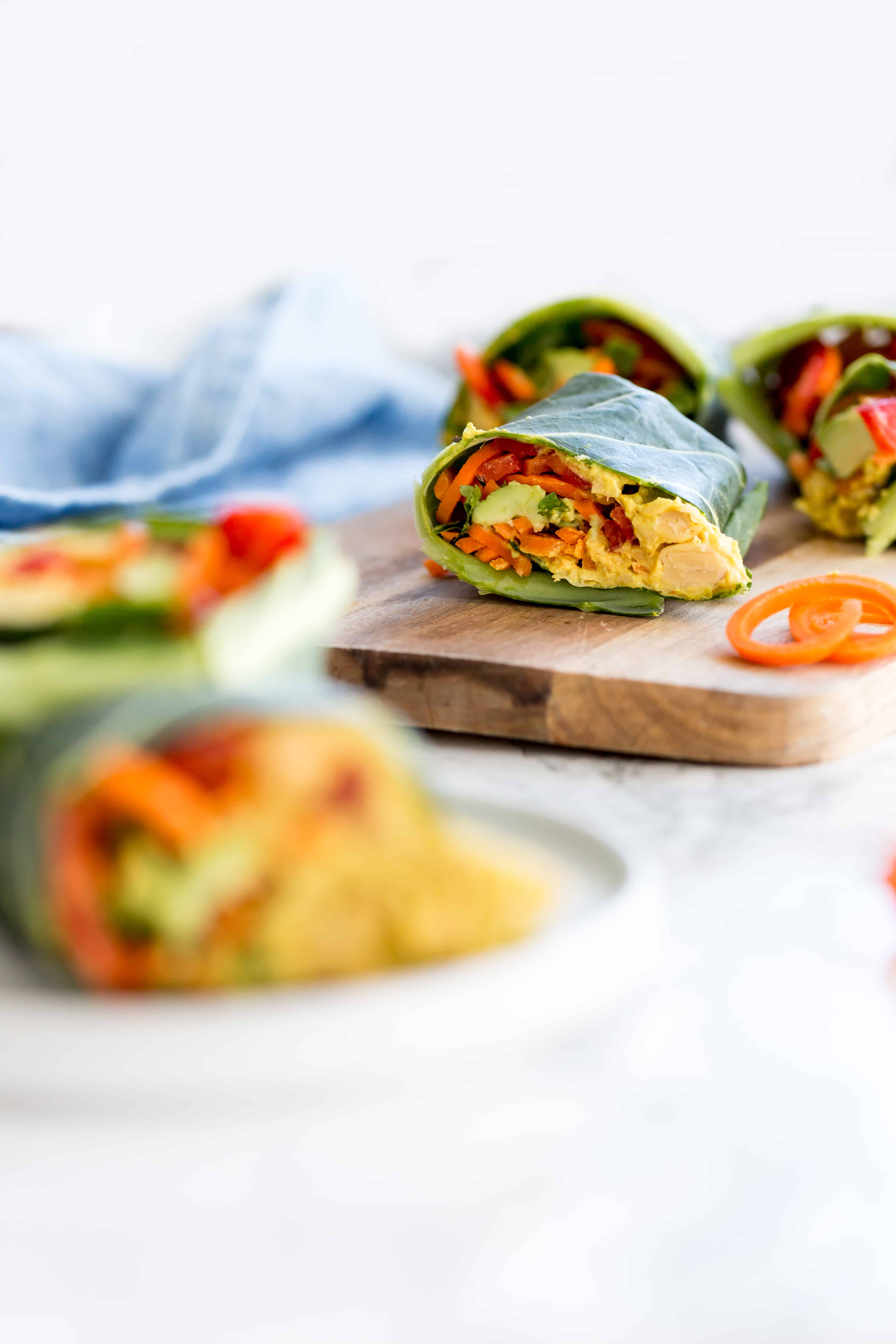Curried Chickpea and Vegetable Wrap