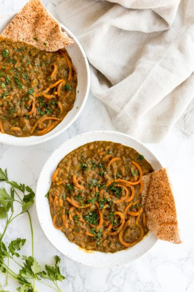 Curried Lentils with Carrots