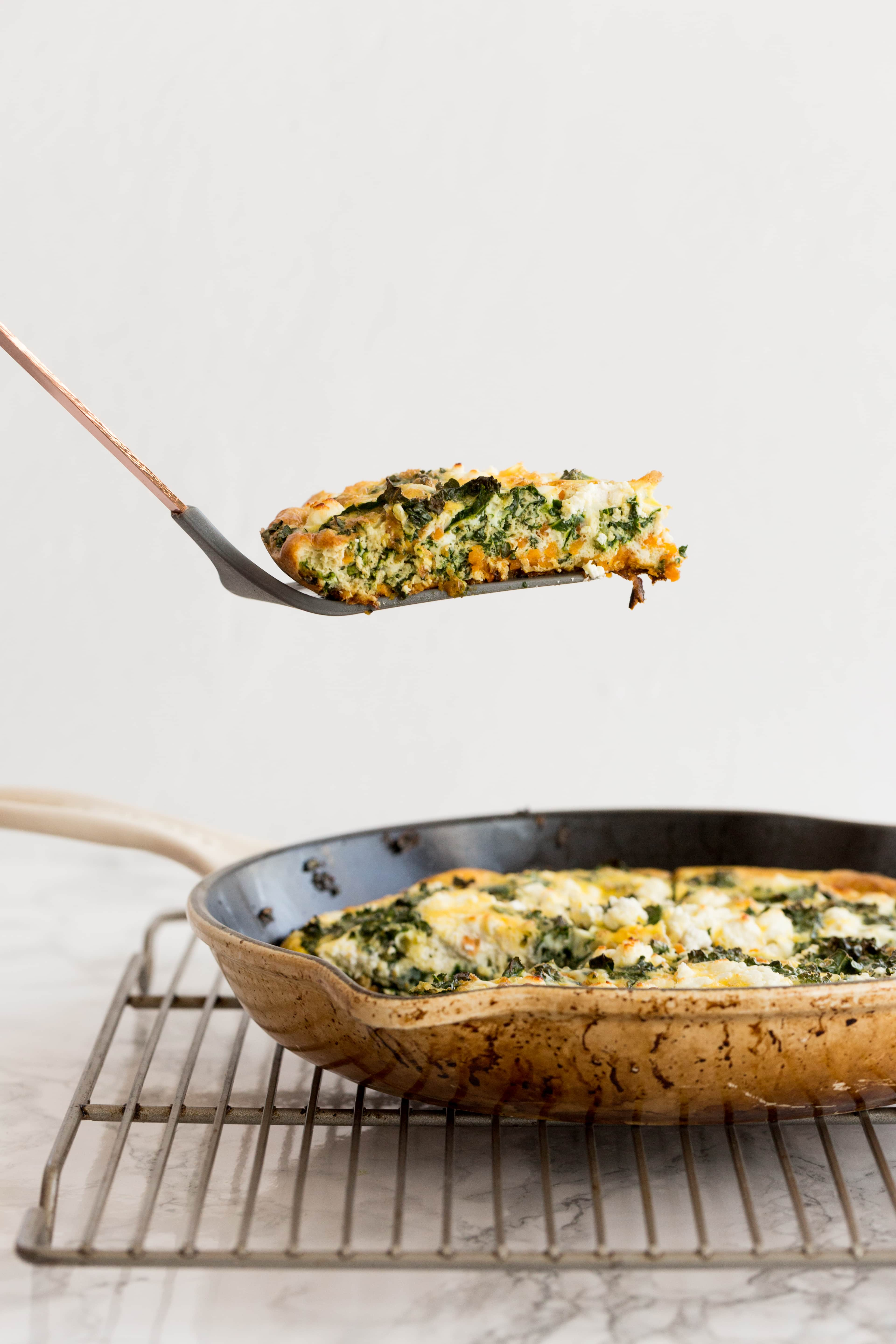 Sweet Potato, Kale and Goat Cheese Frittata