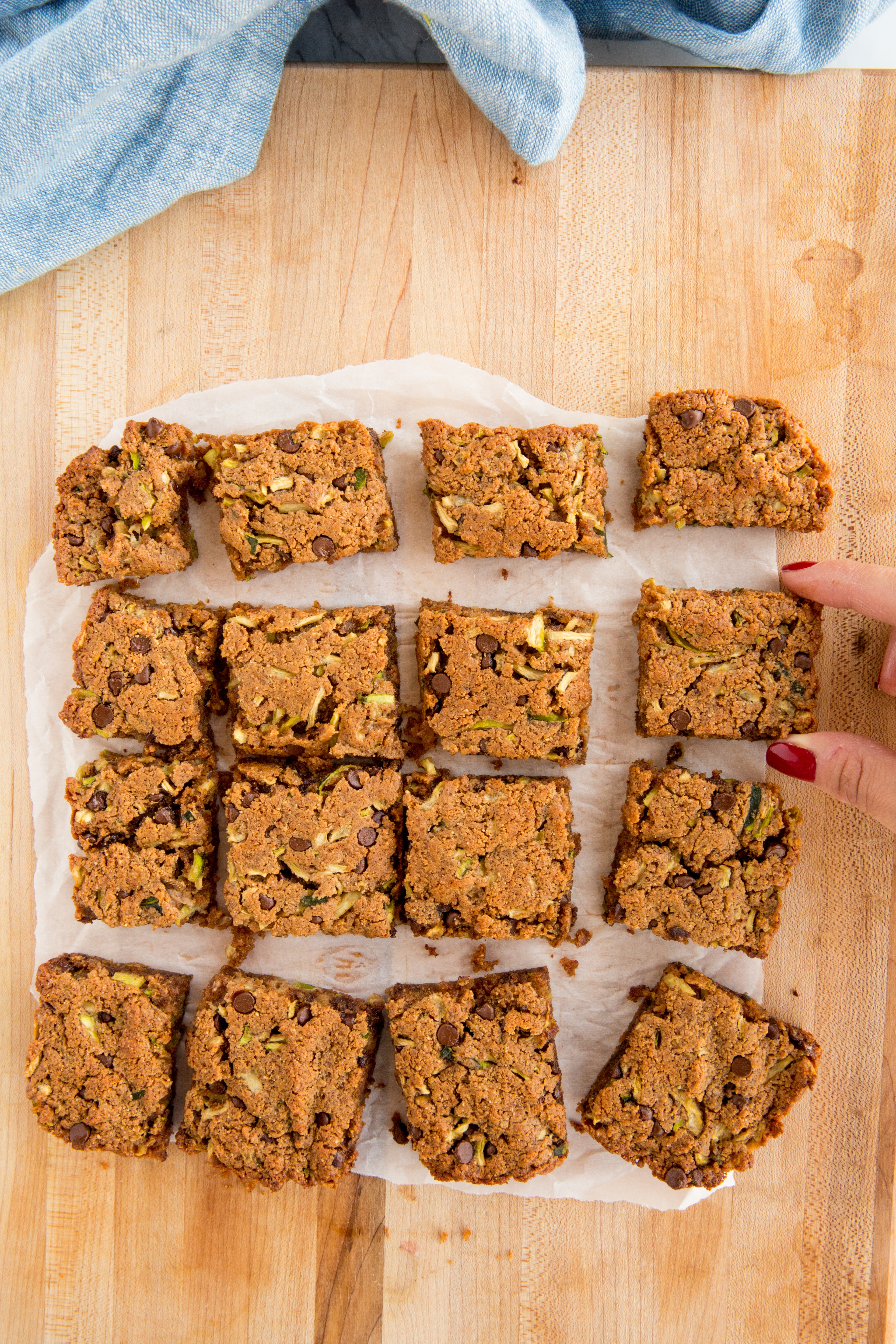 Chocolate Zucchini Almond Butter Bars