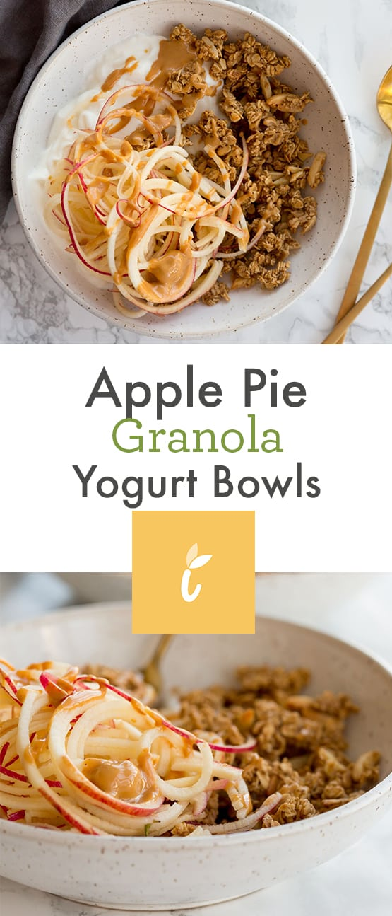 Apple Pie Granola Yogurt Bowls
