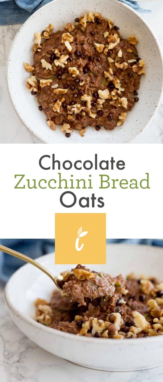 Chocolate Zucchini Bread Oats