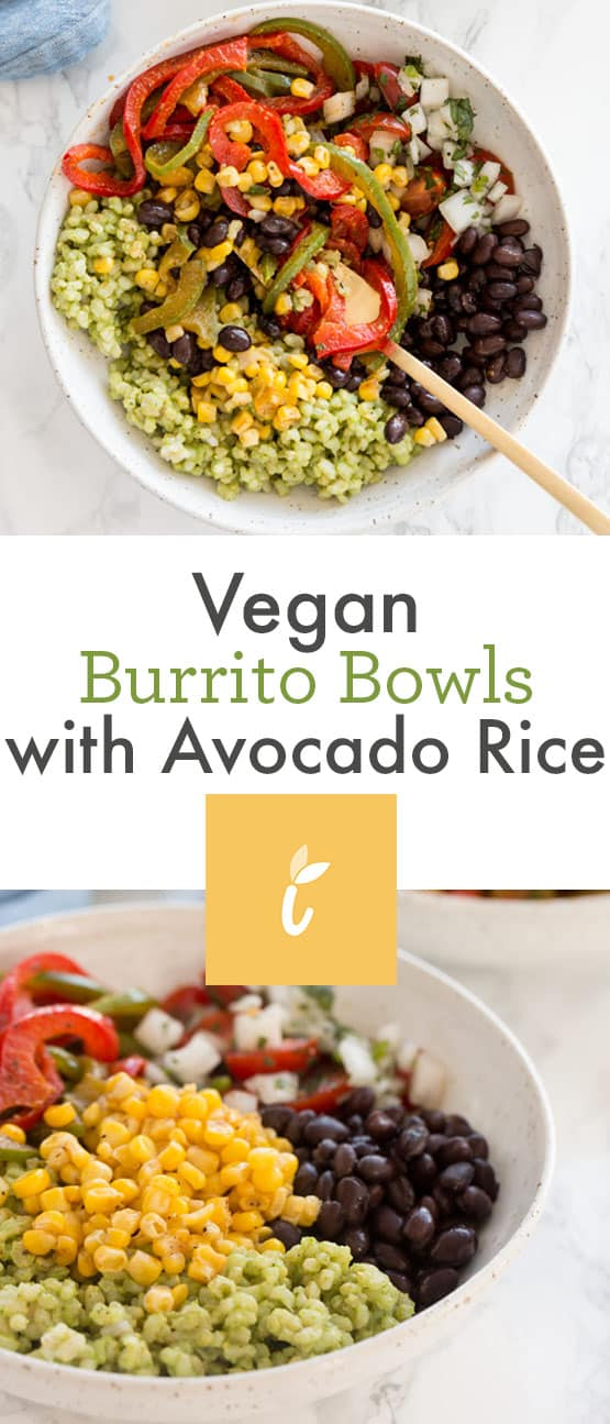Vegan Burrito Bowls with Avocado Rice