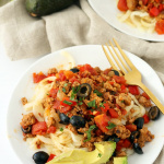 Easy Turkey Taco Celeriac Pasta