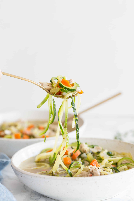 Pressure Cooker Chicken Zucchini Noodle Soup