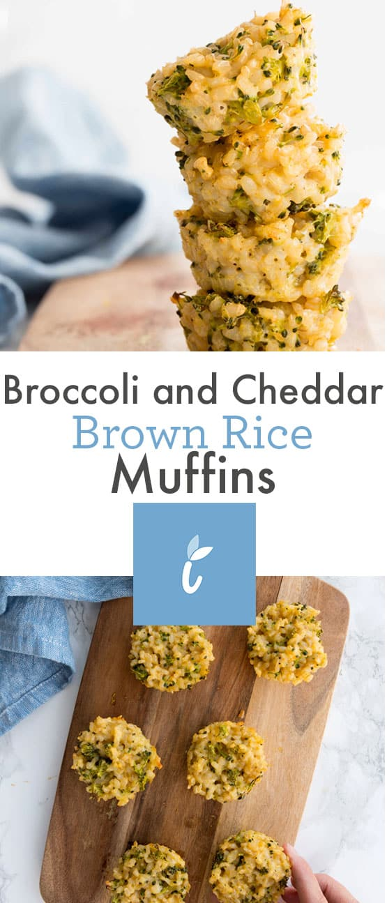 Broccoli and Cheddar Brown Rice Muffins