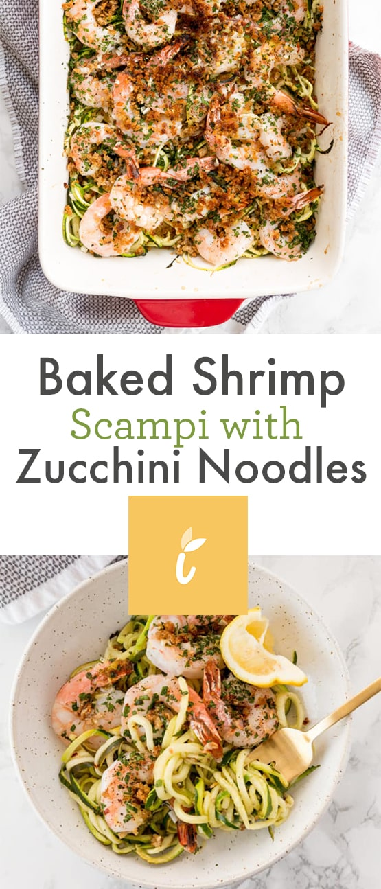Baked Shrimp Scampi with Zucchini Noodles