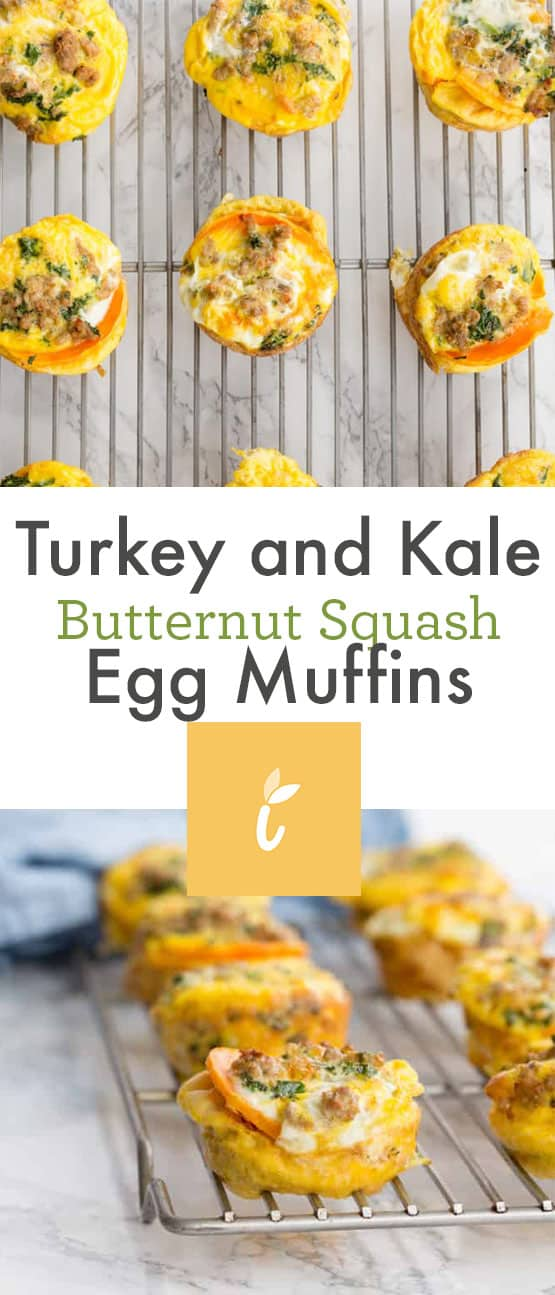 Turkey and Kale Butternut Squash Egg Muffins
