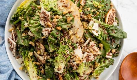 Little Gem Pear Salad with Walnut Vinaigrette