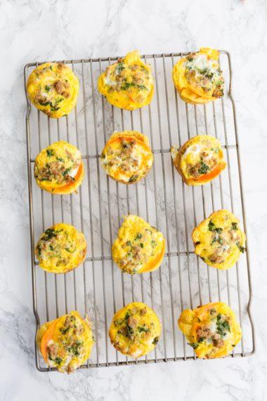 Turkey and Kale Butternut Squash Egg Muffins