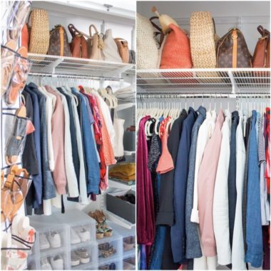 Wardrobe and Bedroom Closet: Before and After