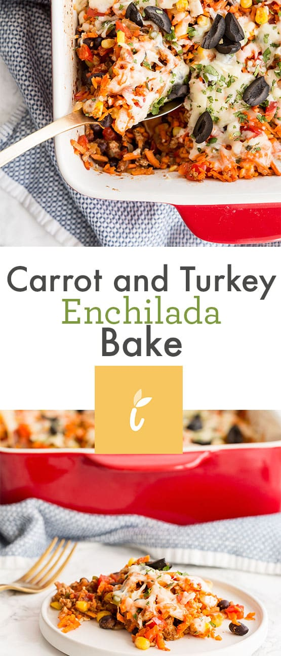 Carrot and Turkey Enchilada Bake