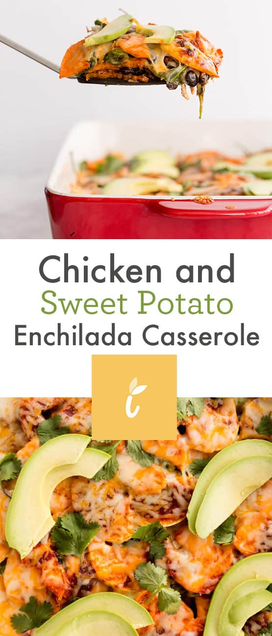 Chicken and Sweet Potato Enchilada Casserole