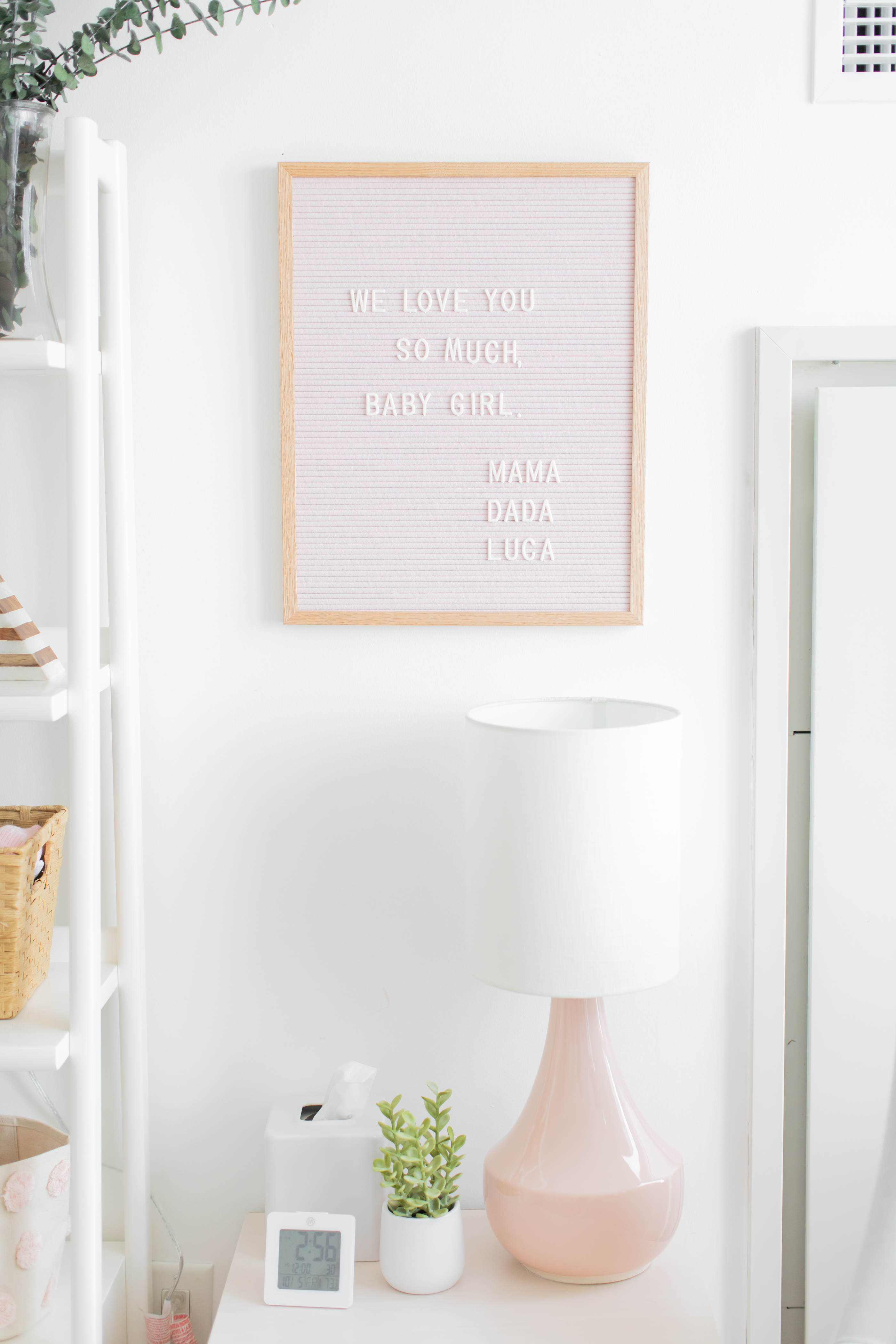 Baby Girl's Nursery Reveal and How We Fit A Nursery Into Our Bedroom
