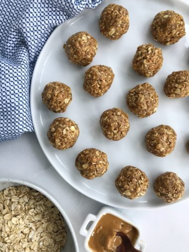 no-bake lactation energy bites