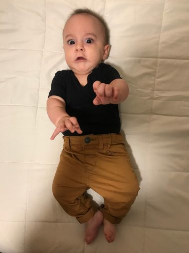 baby Luca's schedule at 4 months old