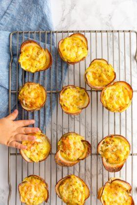 Mini Potato and Carrot Quiche Cups