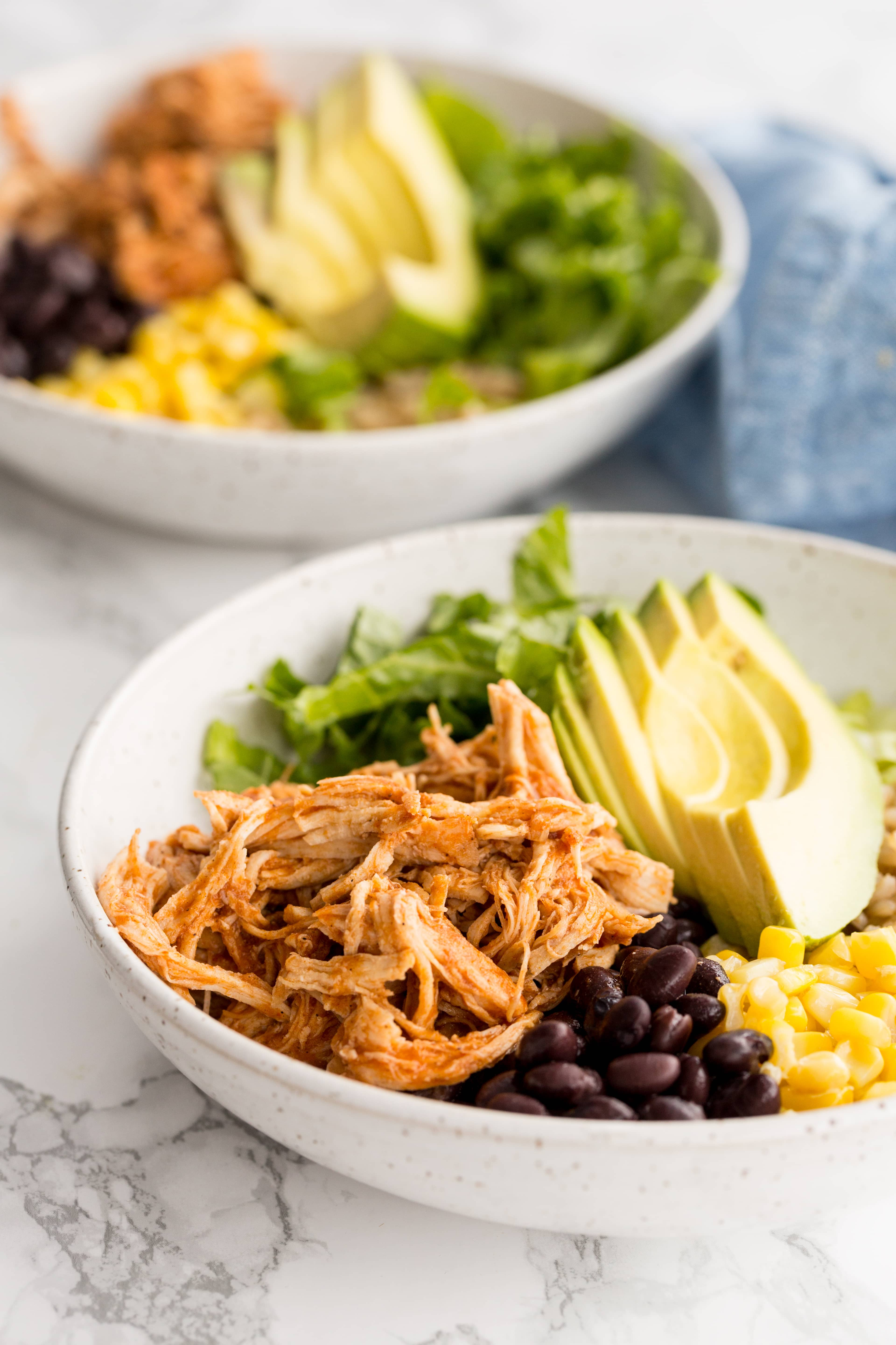 Pressure Cooker BBQ Chicken Bowls