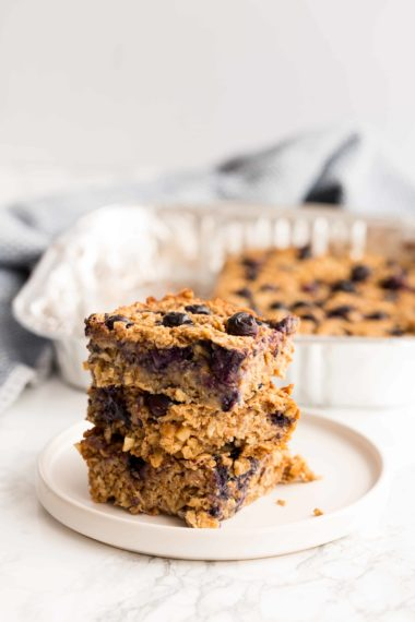 Vegan Blueberry Oatmeal Squares