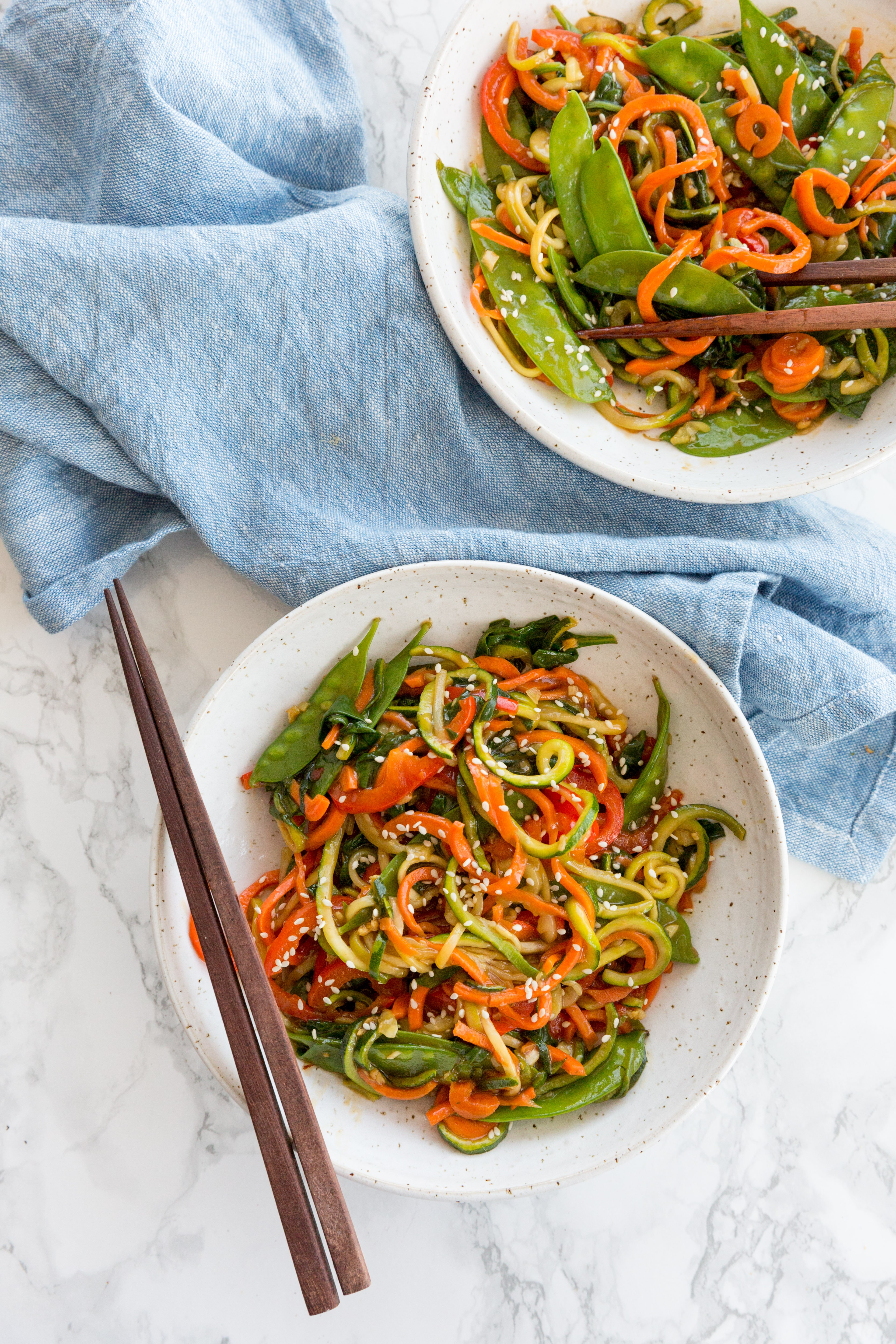 Inspiralized Spiralized Vegetable Lo Mein