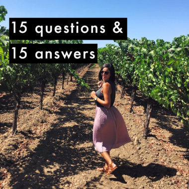 get to know me: 15 questions & 15 answers