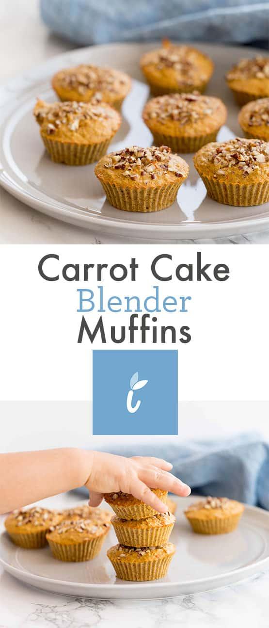 Carrot Cake Blender Muffins