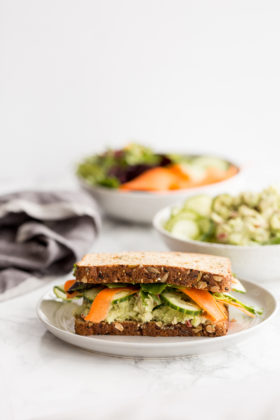 Avocado Goddess Chicken Salad Sandwich