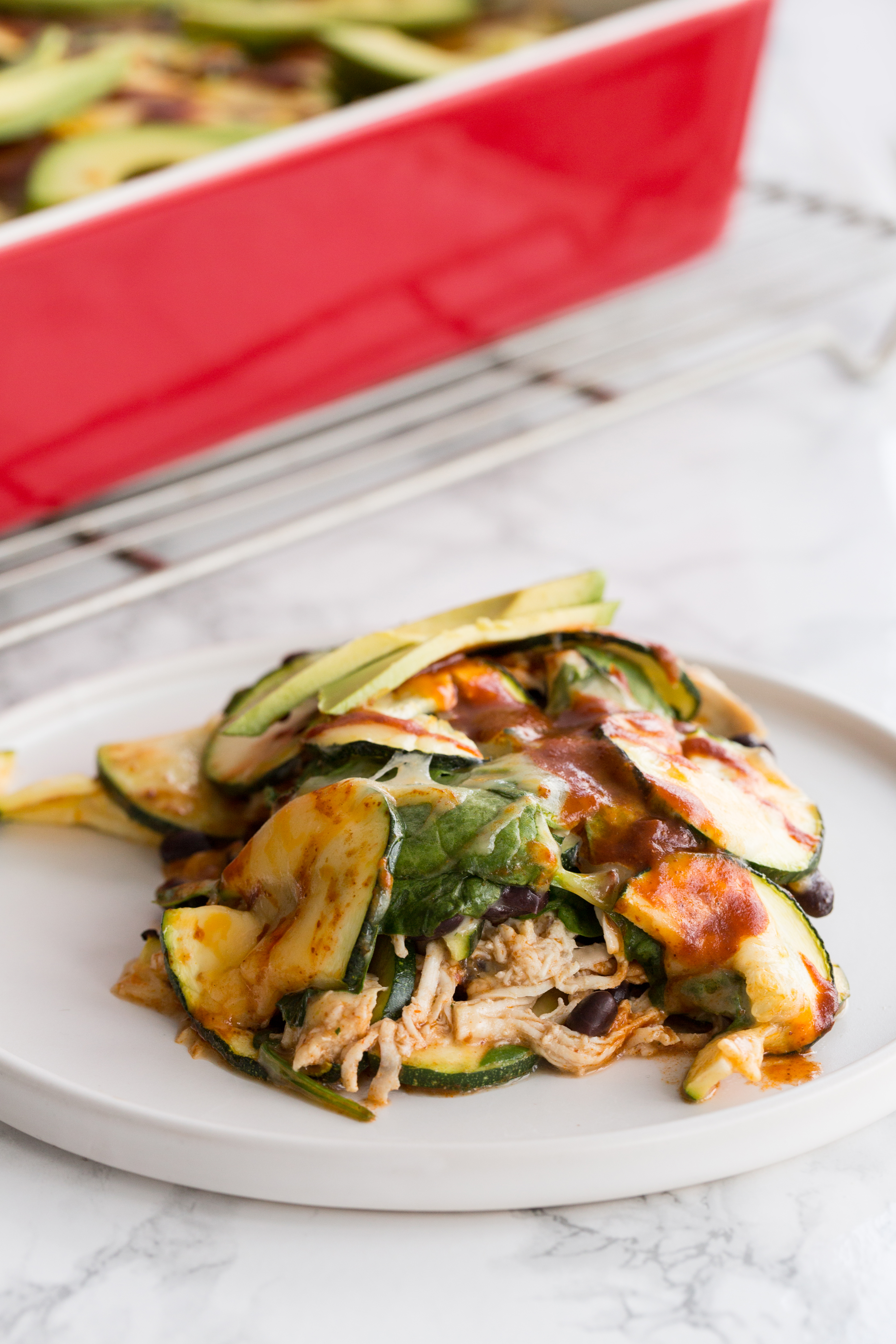 Zucchini and Chicken Enchilada Casserole