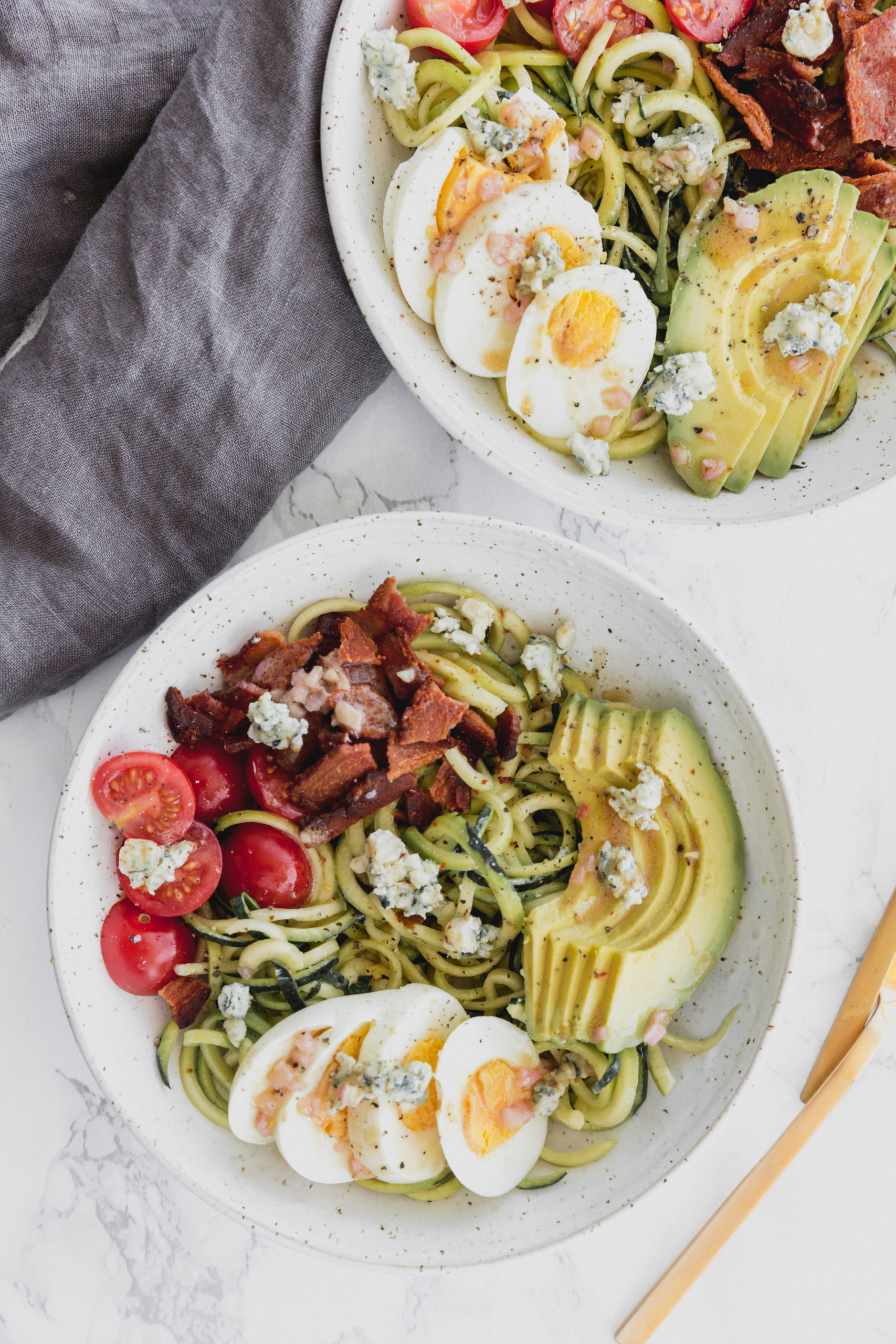 Zucchini Noodle Cobb Salad