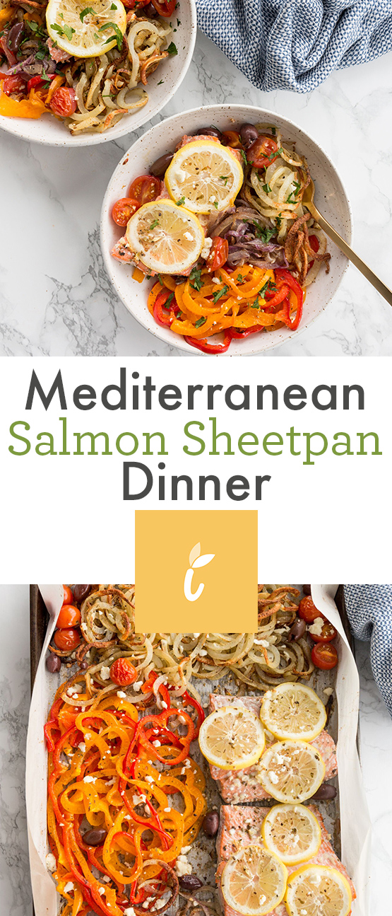 Mediterranean Salmon Sheetpan Dinner