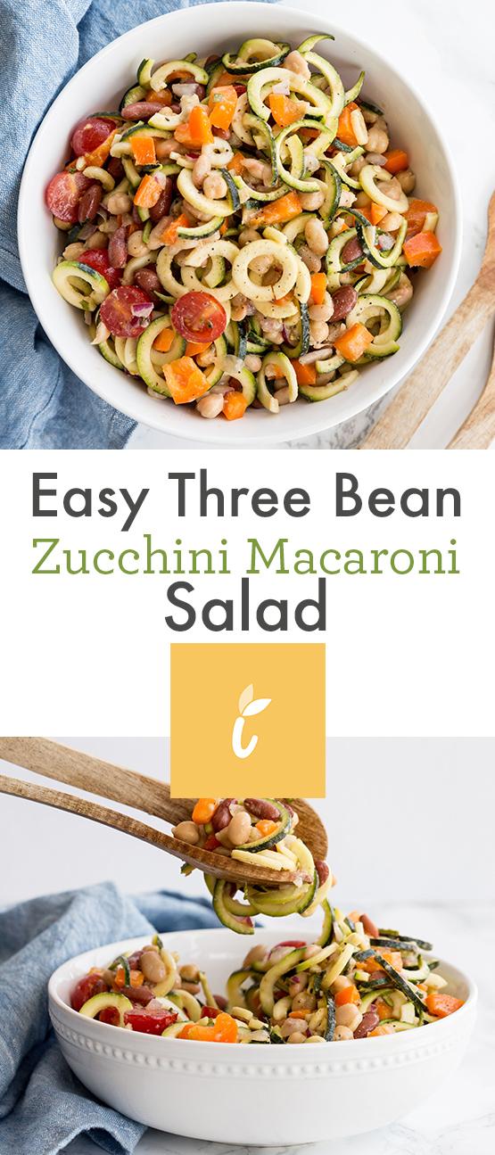 Easy Three Bean Zucchini Macaroni Salad