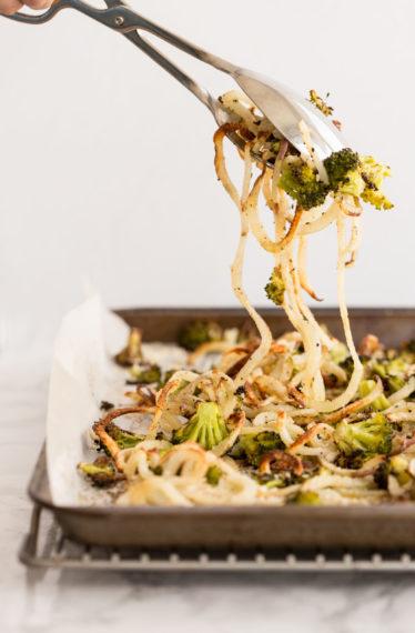 Garlic Parmesan Broccoli and Potatoes