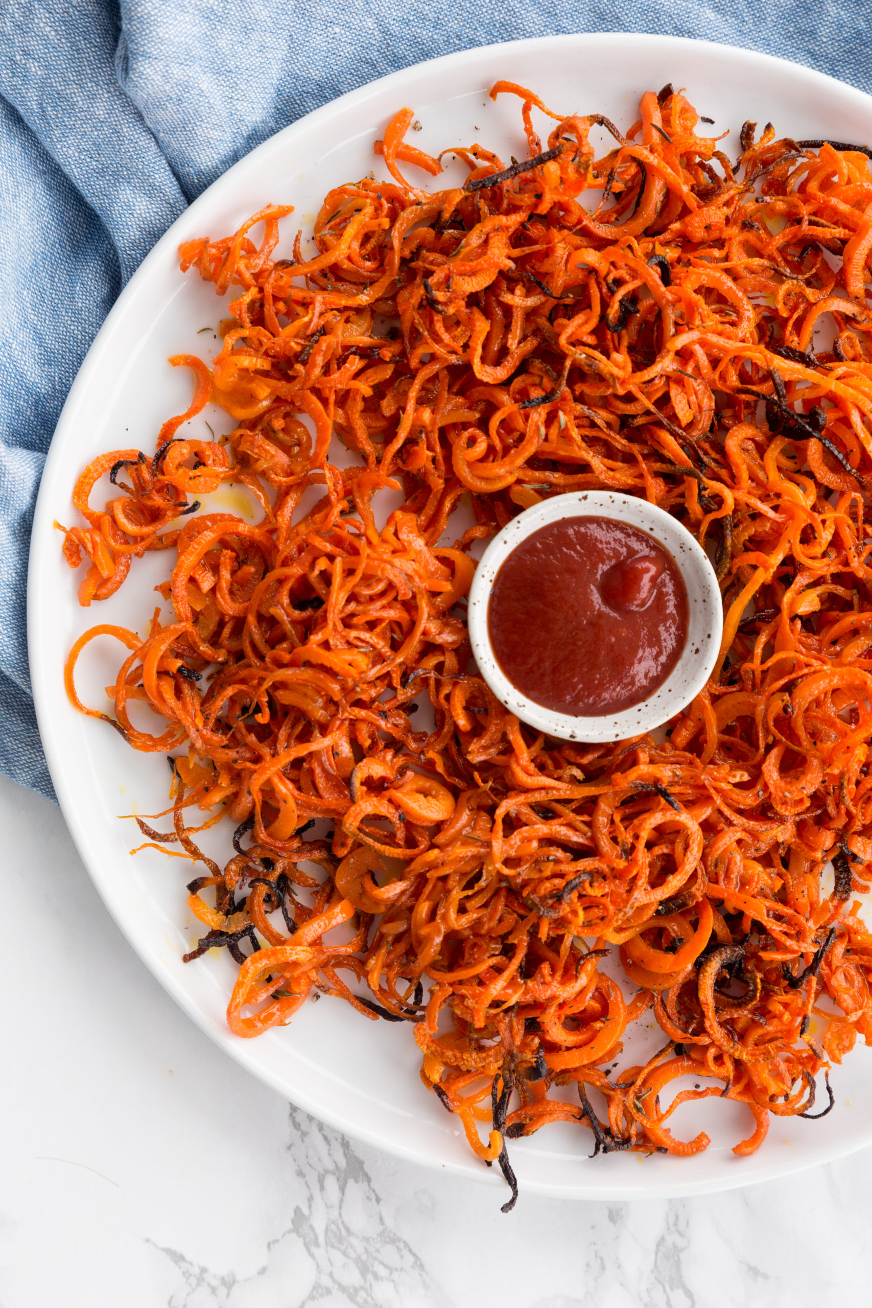 Spiralized Carrot Fries