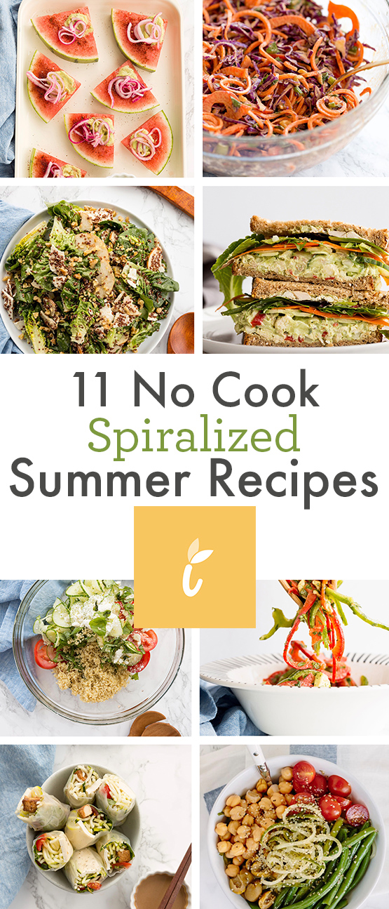 11 No Cook Spiralized Summer Recipes