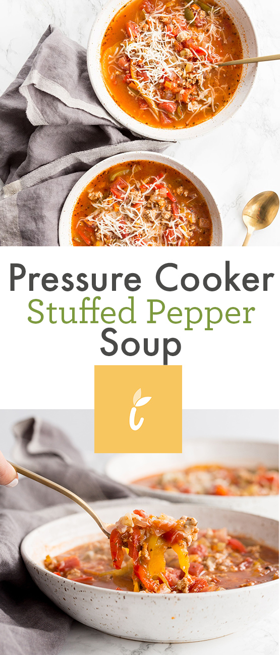Pressure Cooker Stuffed Pepper Soup