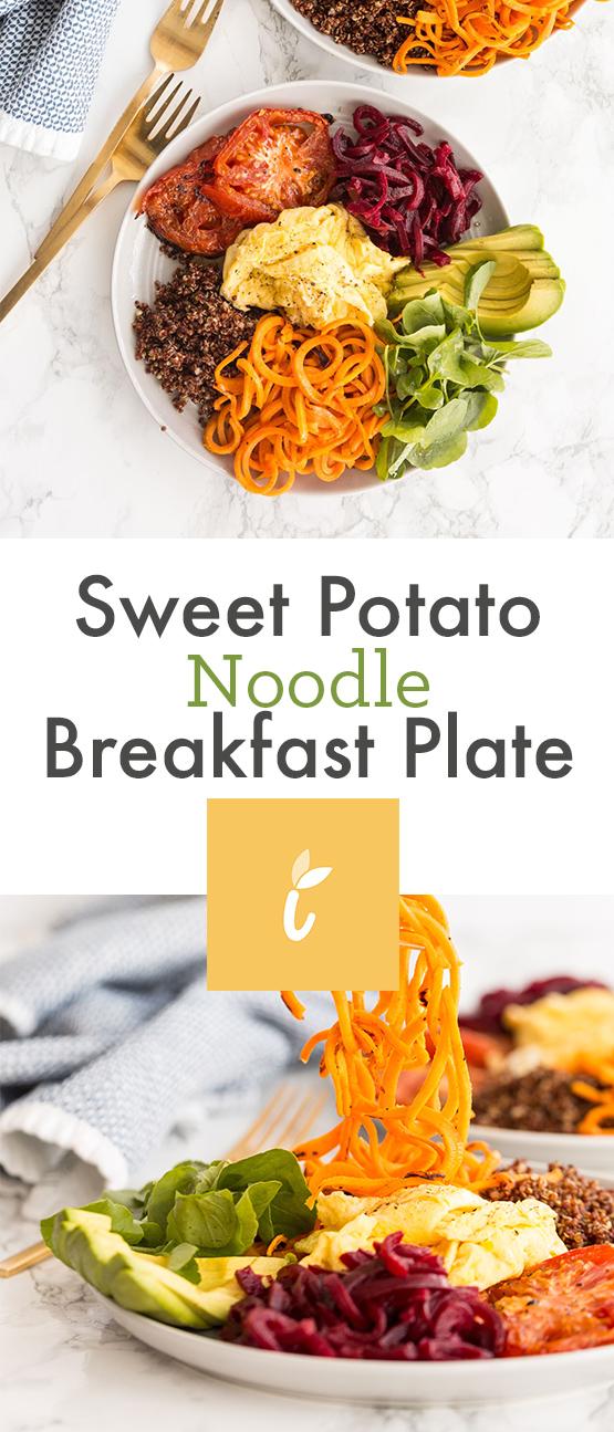 Sweet Potato Noodle Breakfast Plate
