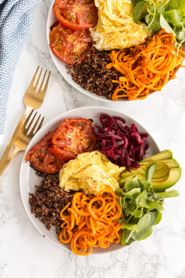Sweet Potato Noodle Breakfast Plate
