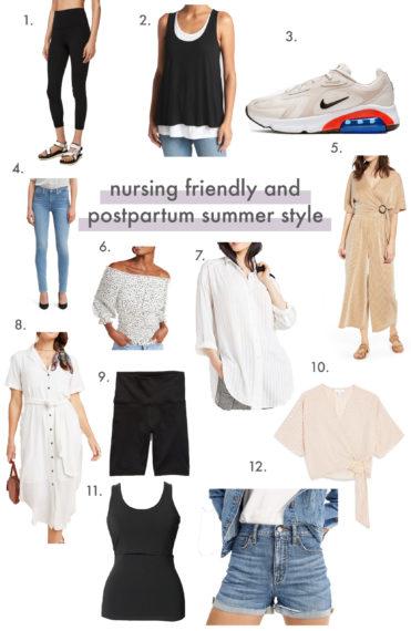 nursing friendly and postpartum summer style