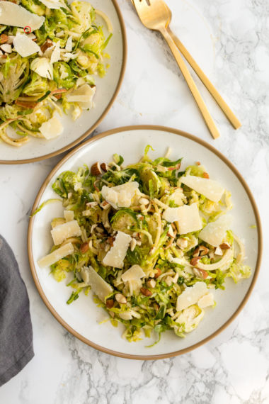 Brussels Sprouts and Apple Salad with Parmesan