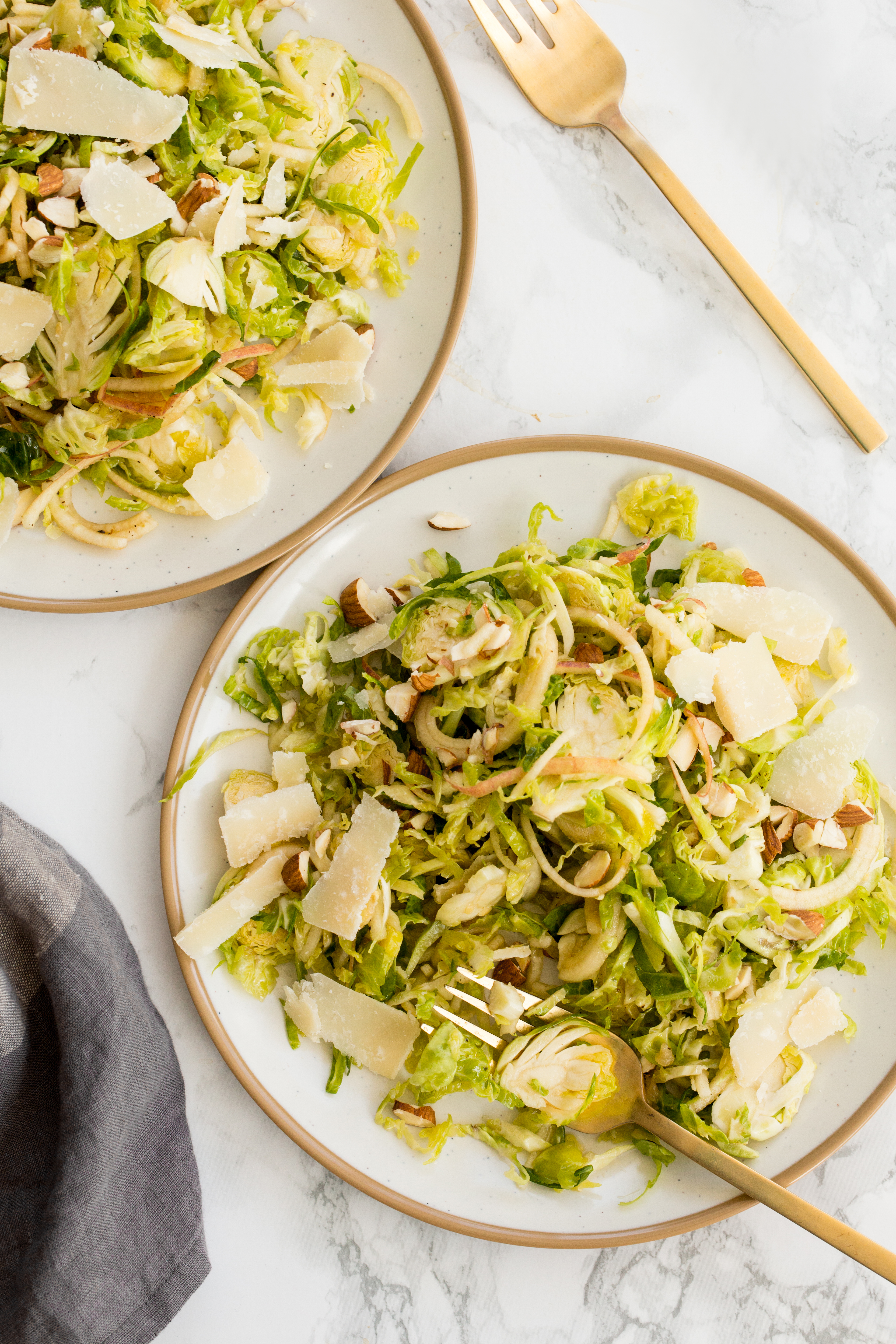 Brussels Sprouts and Apple Salad with Parmesan-2