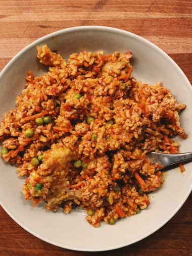 Turkey and Vegetable Brown Rice Bake